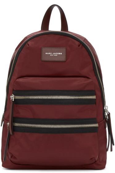 Marc Jacobs - Burgundy Nylon Biker Backpack