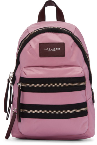 Marc Jacobs - Pink Nylon Mini Biker Backpack
