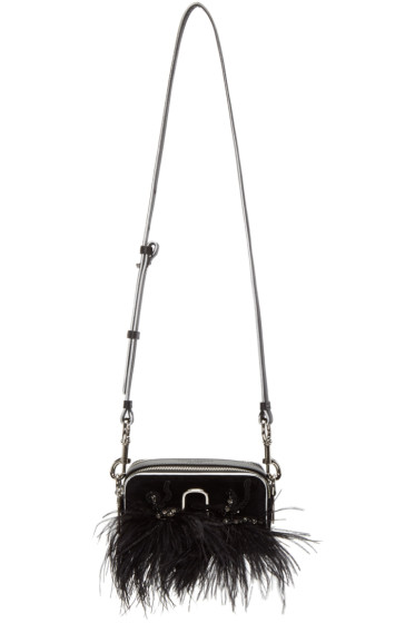 Marc Jacobs - Black Velvet Small Snapshot Camera Bag