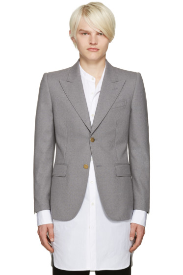Marc Jacobs - Grey Slim Sutton Suiting Blazer