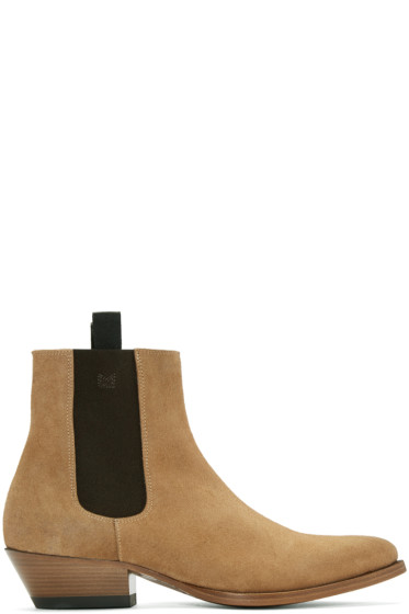 Marc Jacobs - Tan Suede Chelsea Boots
