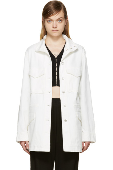 T by Alexander Wang - White Oversized Denim Jacket