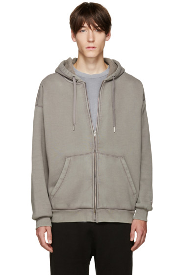 T by Alexander Wang - Grey Oversized Hoodie