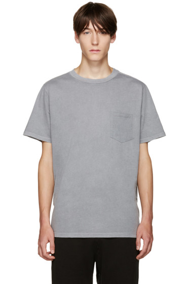 T by Alexander Wang - Grey Pocket T-Shirt