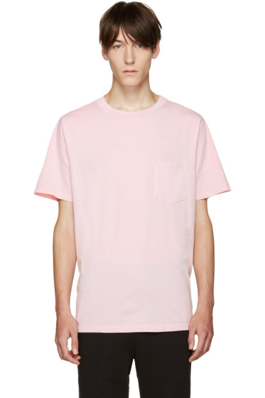 T by Alexander Wang - Pink Pocket T-Shirt