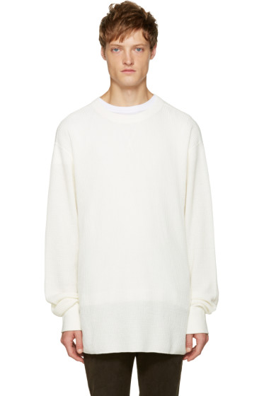T by Alexander Wang - White Waffle Knit T-Shirt