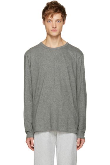 T by Alexander Wang - Grey Classic T-Shirt