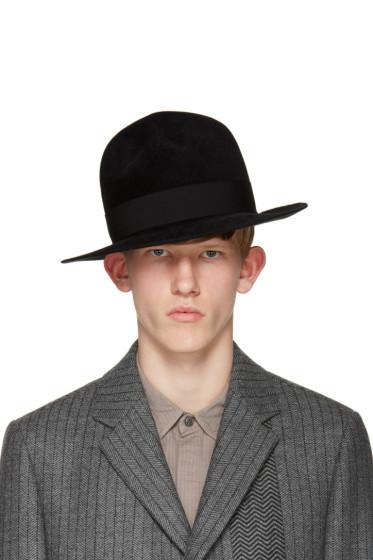 Robert Geller - Black Felt Raphael Hat