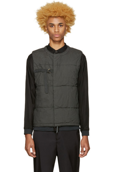 Robert Geller - Grey Quilted Vest