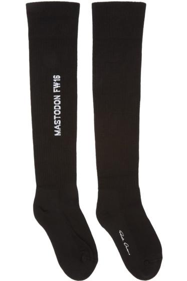 Rick Owens - Black Mastodon Over-the-Knee Socks