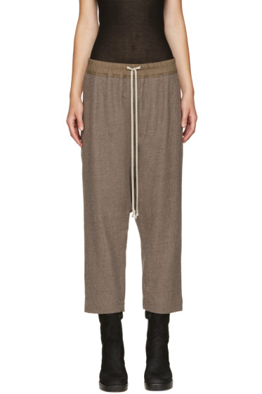 Rick Owens - Brown Cropped Trousers