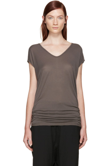 Rick Owens - Taupe Jersey Floating T-Shirt