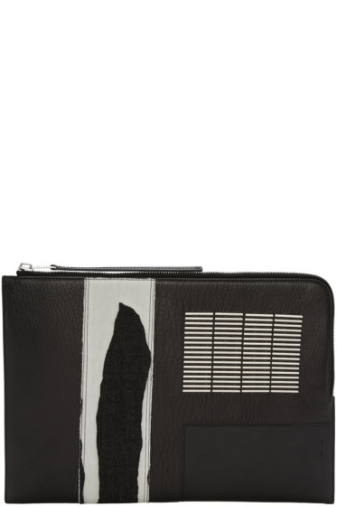 Rick Owens - Black Embroidered Large Pouch