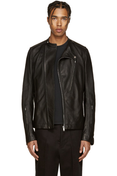 Rick Owens - Black Leather Cyclop Jacket
