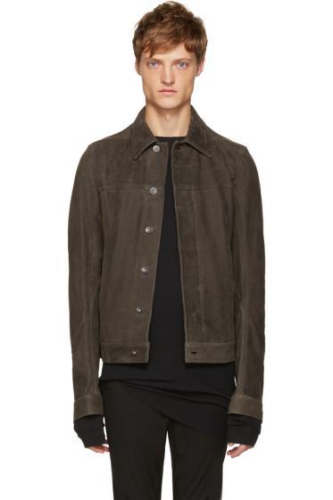 Rick Owens - Grey Nubuck Jacket