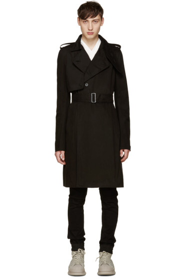 Rick Owens - Black Trench Coat