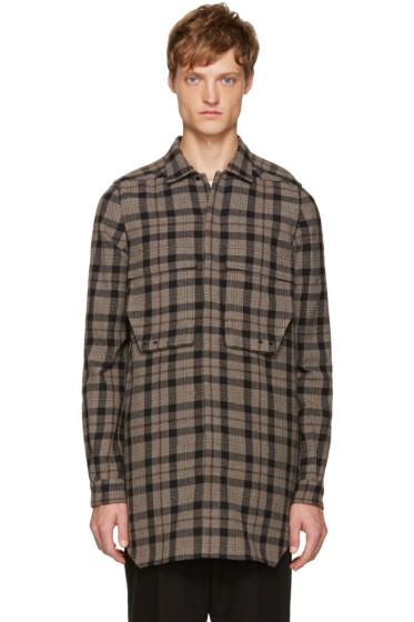 Rick Owens - Grey Check Field Shirt