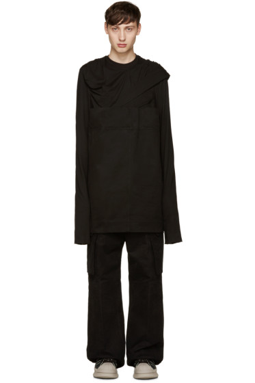 Rick Owens - Black Panelled Pullover