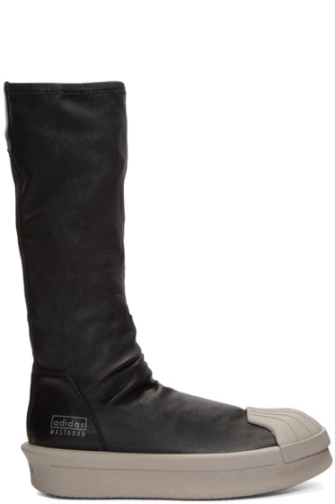 Rick Owens - Black adidas Edition Mastodon Stretch Boot High-Top Sneakers