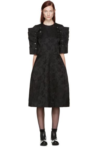 Comme des Garçons - Black Floral Jacquard Dress