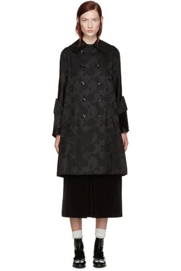 Comme des Garçons - Black Floral Jaquard Coat