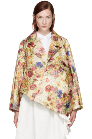 Comme des Garçons - Multicolor Floral Jacquard Jacket