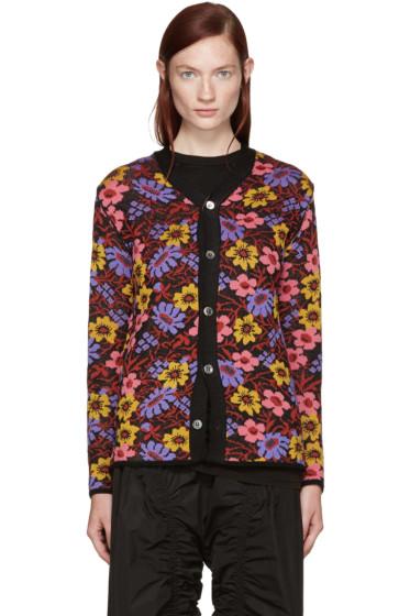 Comme des Garçons - Multicolor Two-Way Floral Cardigan