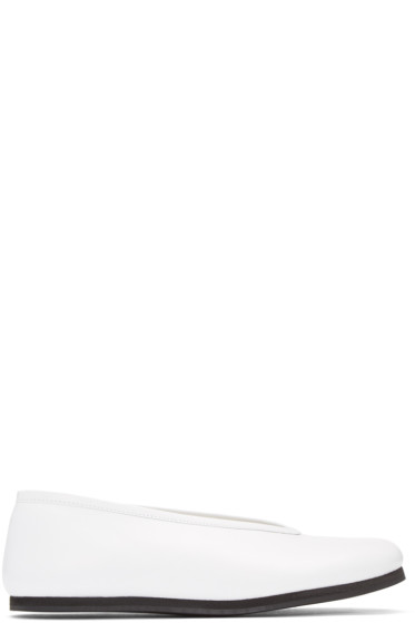 Comme des Garçons - White Leather Ballerina Flats