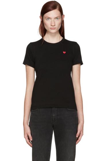 Comme des Garçons Play - Black Small Heart Patch T-Shirt