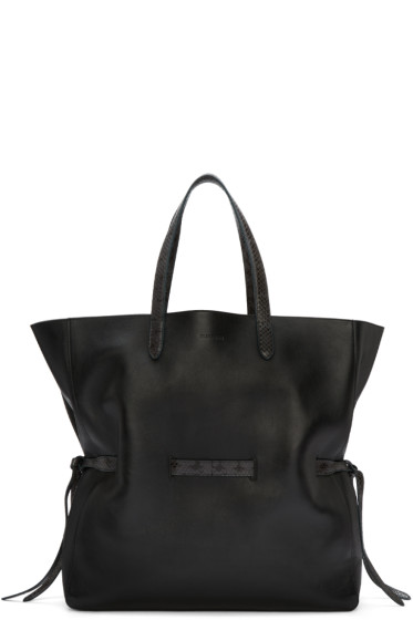 Jil Sander - Black Lace Shopper Tote Bag