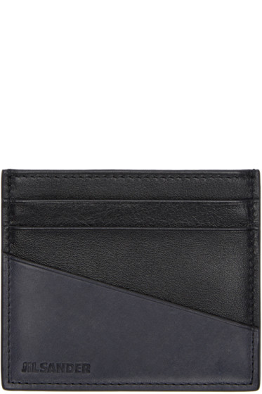 Jil Sander - Black & Grey Card Holder