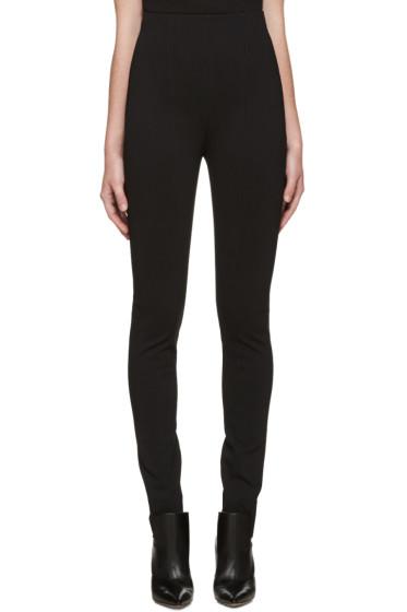 Balmain - Black High-Rise Trousers