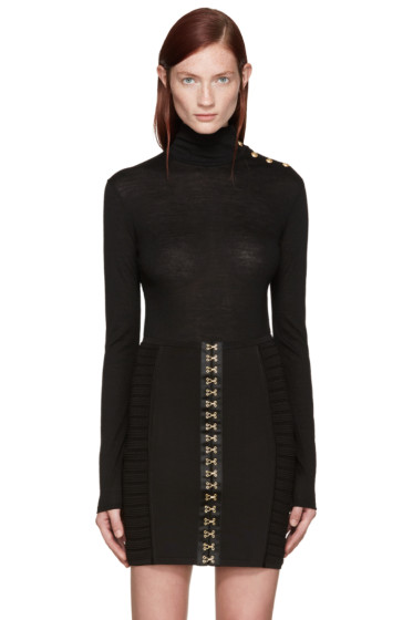Balmain - Black Wool Turtleneck