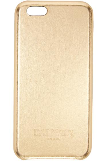 Balmain - Gold Leather iPhone 6 Case