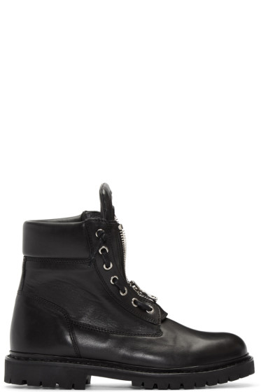 Balmain - Black Taiga Boots