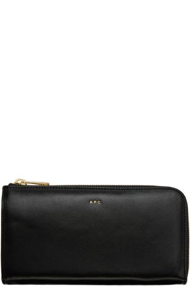 A.P.C. - Black Zip Wallet