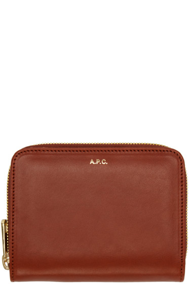 A.P.C. - Brown Compact Wallet