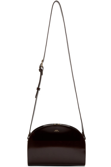 A.P.C. - Brown Half Moon Bag