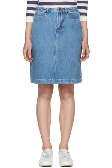 A.P.C. - Blue Denim High Standard Miniskirt