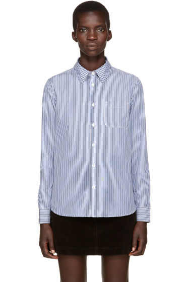 A.P.C. - Blue Striped Shirt