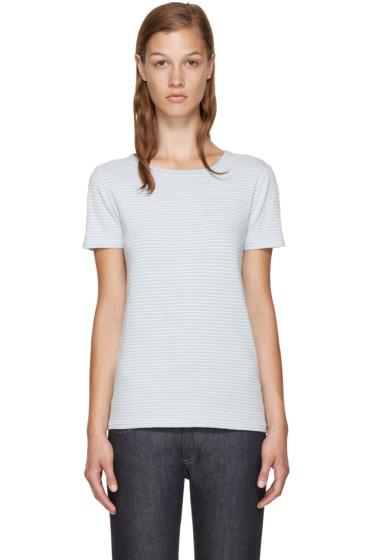 A.P.C. - Blue & White Helen T-Shirt