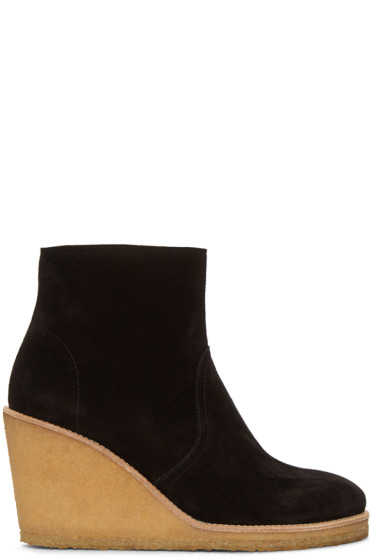 A.P.C. - Black Wedge Gaya Boots