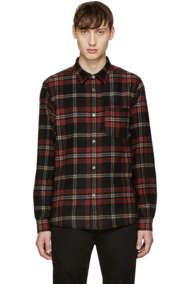 A.P.C. - Red Plaid Trevor Overshirt