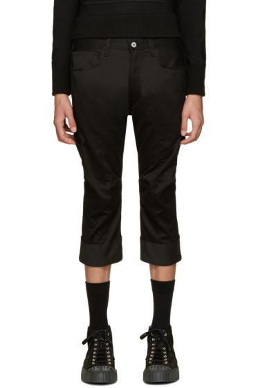 Junya Watanabe - Black Cropped Twill Trousers