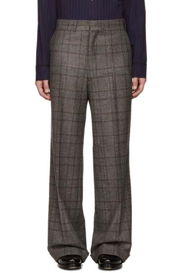 Junya Watanabe - Brown Wool Glencheck Trousers