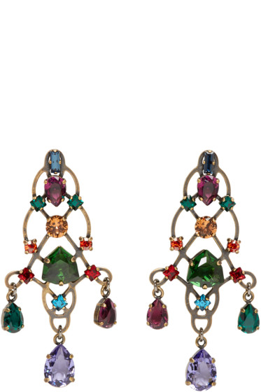 Lanvin - Multicolor Rhinestone Earrings