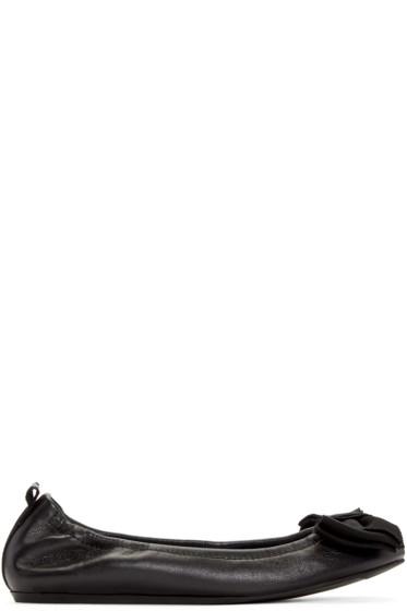 Lanvin - Black Bow Ballerina Flats