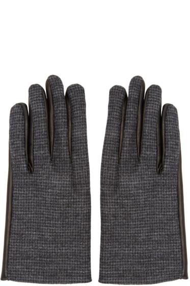 Lanvin - Grey Wool & Leather Gloves