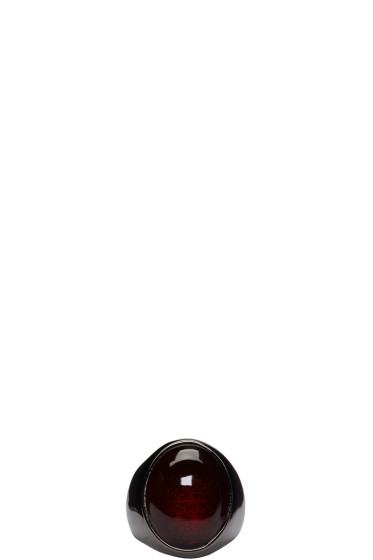 Lanvin - Black Glass Stone Ring