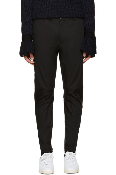 Lanvin - Black Cotton Biker Trousers
